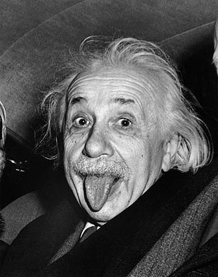 Albert Einstein Tongue Out