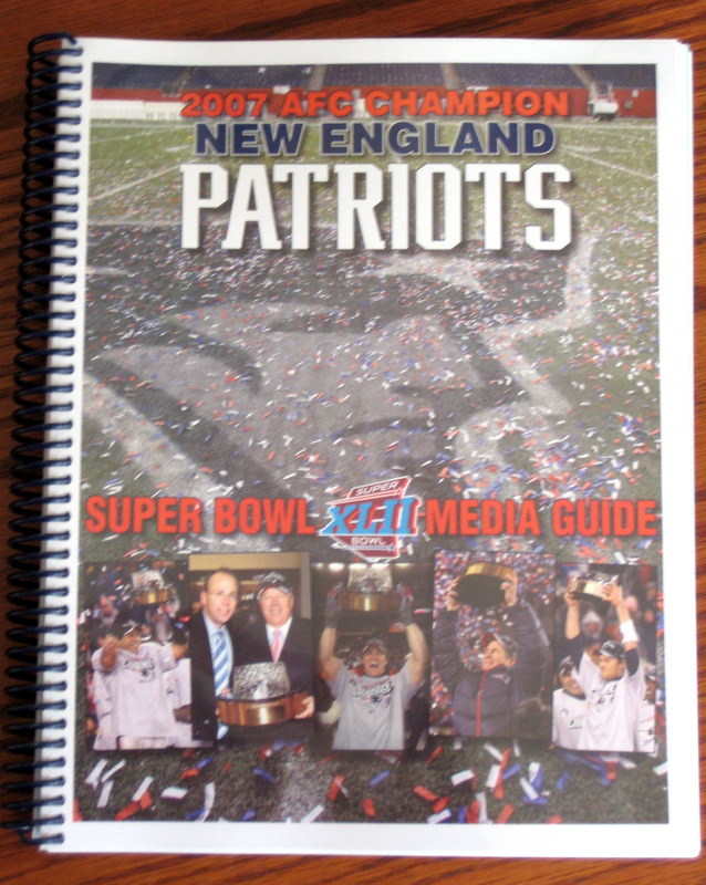 New england Patriots Super Bowl XLII Media Guide