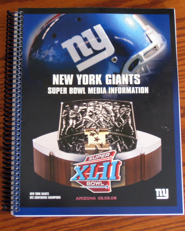 New York Giants Super Bowl XLII Media Guide