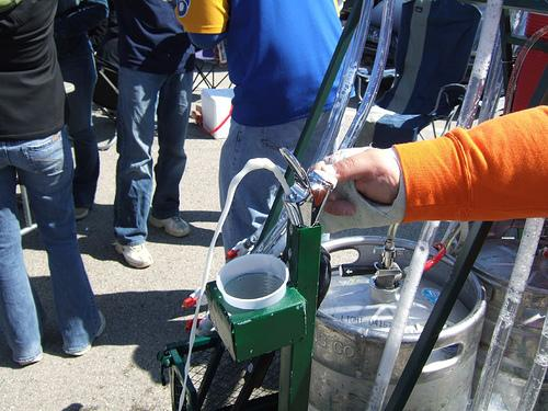 The bubbler beer drinking fountain