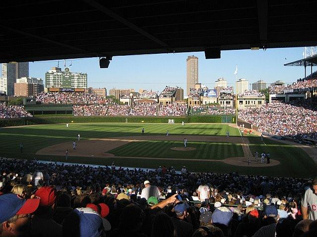 Wrigley Field from the left field stands