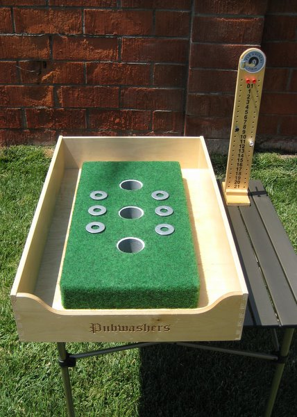 pub washers when it comes to tailgating games throwing