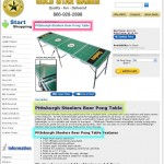 Steelers Beer Pong Table