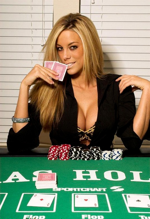 She looks a poker winner in more than one way.