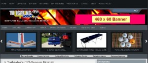 Advertising Header Banner on TailgatingIdeas.com