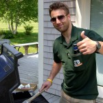 Koozie Pocket Shirt grilling