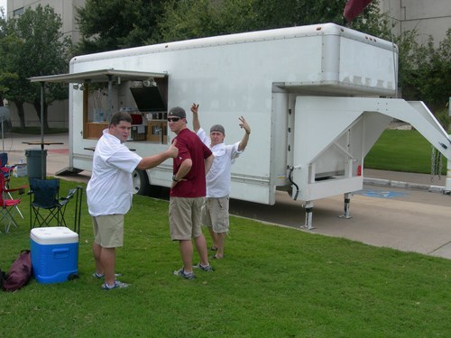 Texas A&M Tailgaters and their Aggie Wagon trailer