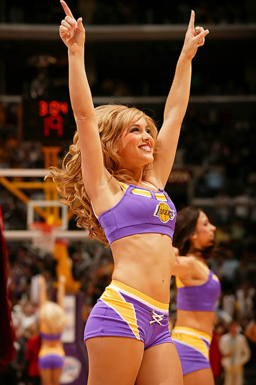 Los Angeles Laker Girl cheerleader