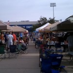 Tailgating at Omaha Rosenblatt Stadium for the 2010 College World Series