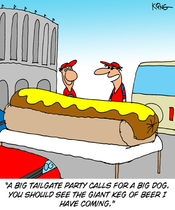 Big Hot Dog Tailgating