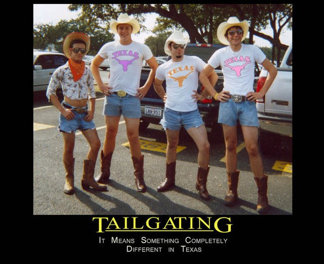 Texas Tailgating Demotivational Poster