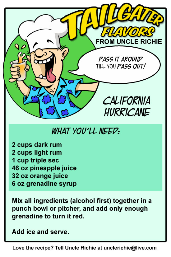 California hurricane recipe