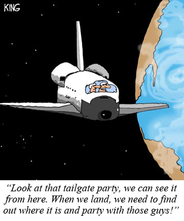 Tailgating Cartoon space shuttle