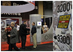 Sports Licensing and Tailgate Show floor