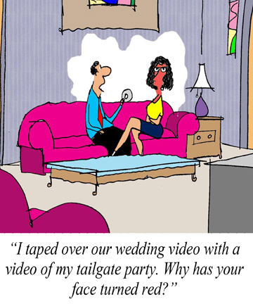 Tailgating Cartoon wedding video