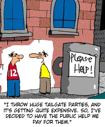 Donations tailgater