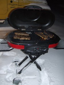 Winter Coleman grill