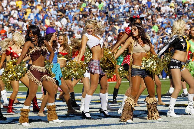 San Diego Chargers Girls on Halloween