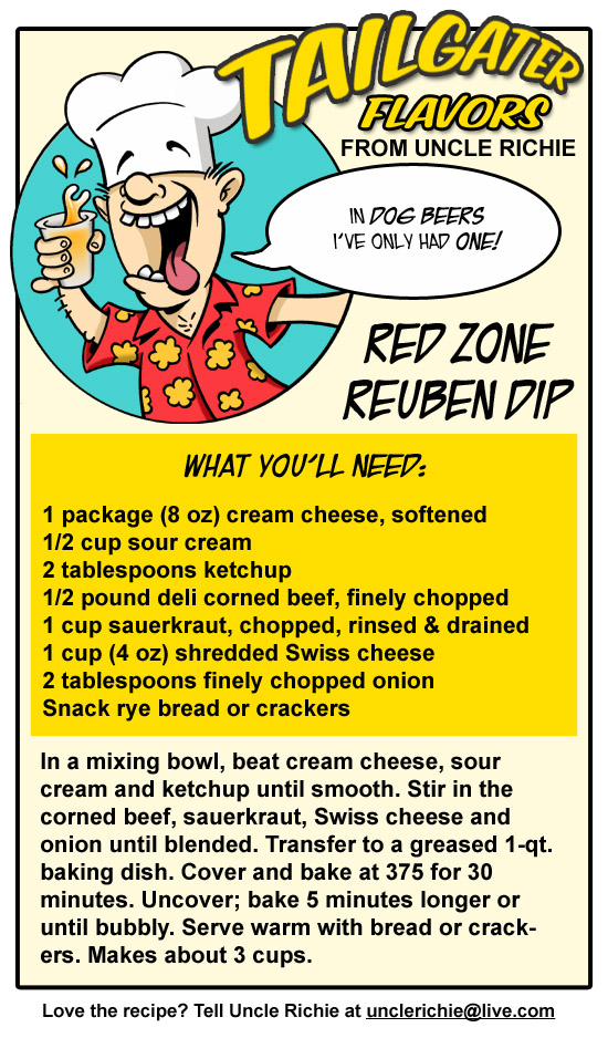 red zone reuben dip recipe