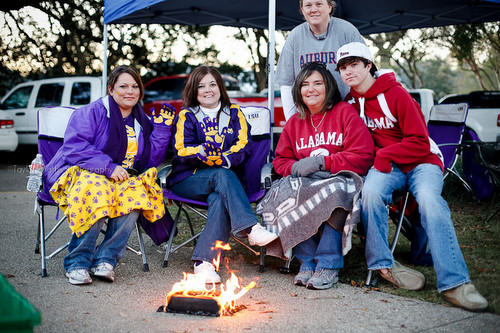 LSU and Bama fans together
