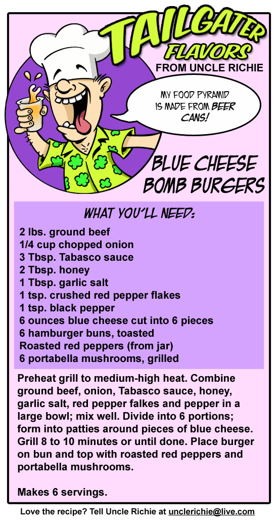 Blue Cheese Bomb Burgers Recipe