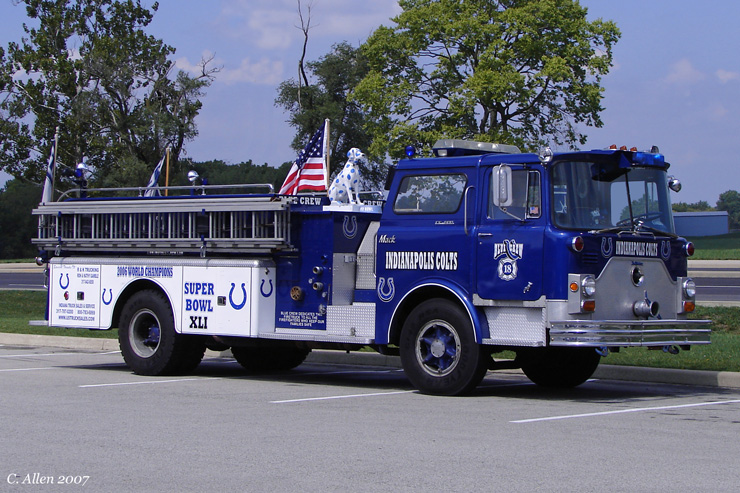 Indianapolis Colts Tailgating Fire engine