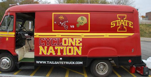 Iowa State Tailgating Step Van