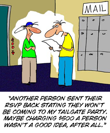 RSVP Tailgating Cartoon