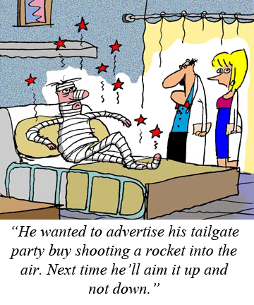 Rocket tailgater Cartoon