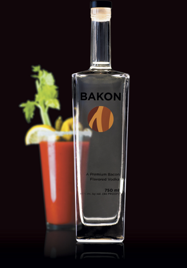 Bakon Vodka Bottle
