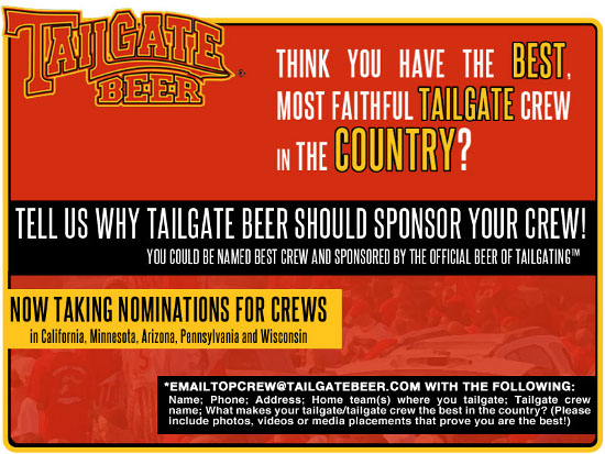 Tailgate Beer Sponsorship Flyer