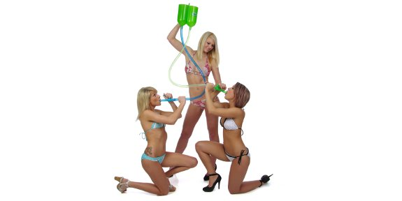 Double Beer Bong Girls