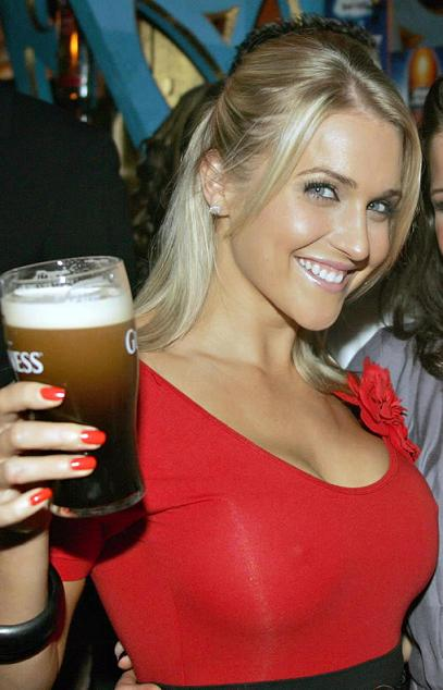 Hot Girl Toasting with Guiness
