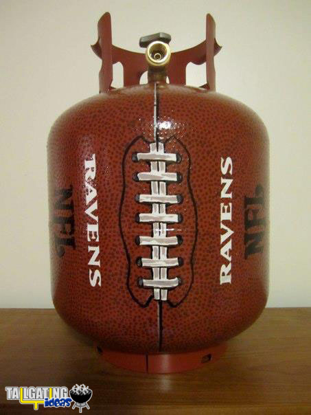 Football Gas Tank : Propane tailgating ideas