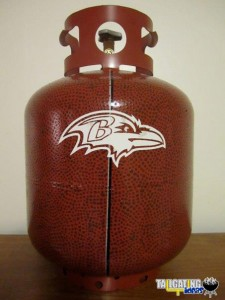 Custom Painted Football Propane Tank