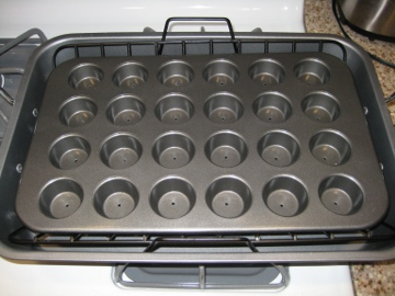 mini muffin pan drilled