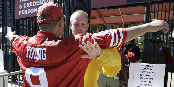 49er fan security pat down