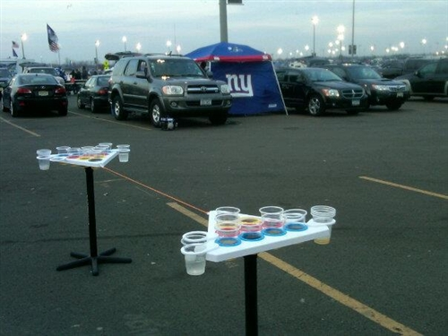 Point Pong NY Giants Tailgate & Point Pong Beer Pong Table | Tailgating Ideas