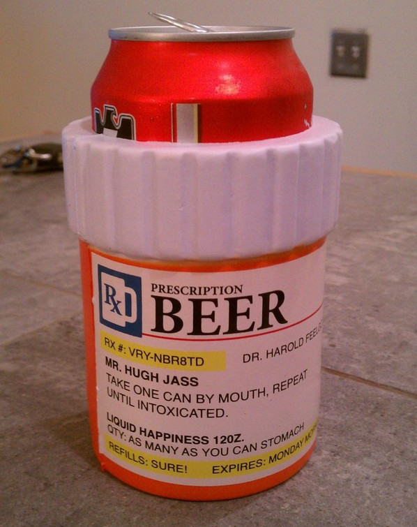 Prescription Bottle Beer Koozie