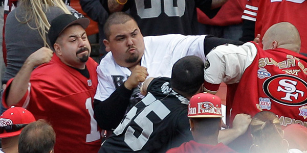 NFL Football fans fighting
