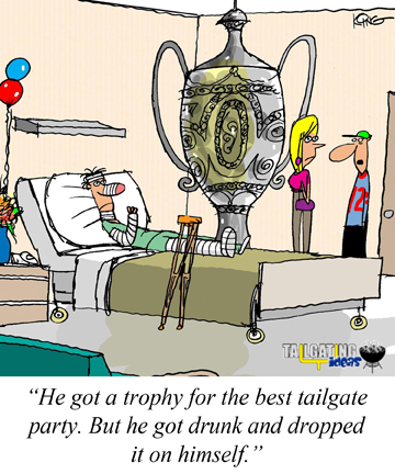 Trophy Tailgater injured