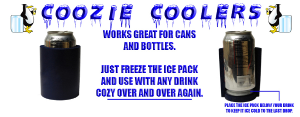 Beverage Coozie Ice Pack Header