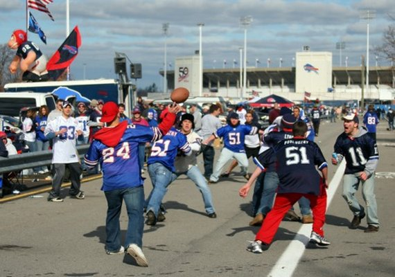 Buffalo Tailgate Parking Lot Touch Football