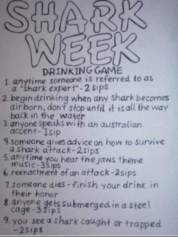 Shark Week Drinking Game Rules