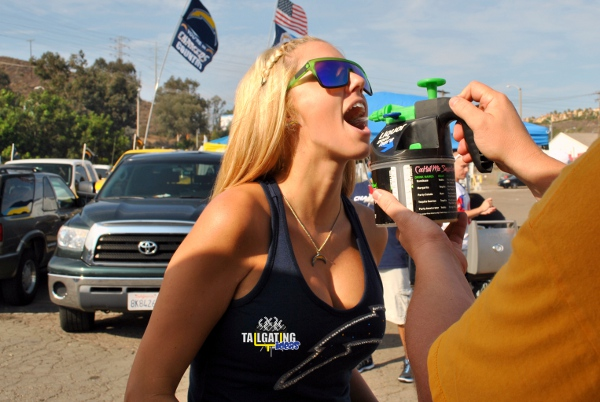 Charger Fan Doing Kamikaze Shot