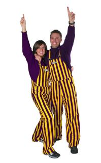 Purple and Yellow Game Bib Overalls