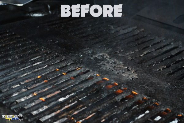 Grill Grate Before cleaning