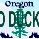 Go Ducks tailgate tag