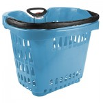 Large light blue rolling tailgating basket