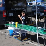 Rappz Tailgating Ideas custom cooler cover under tailgating table